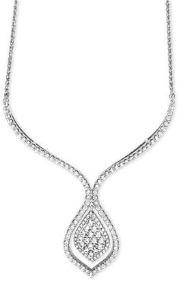 Wrapped in Love Diamond Statement Necklace (1-1/2 ct. t.w.) in 14k White Gold, Created for Macy's