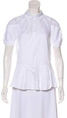 Opening Ceremony Short Sleeve Peplum Top