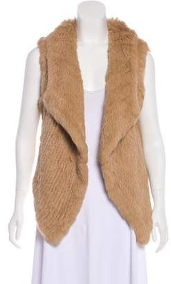 Yves Salomon Fur Asymmetrical Vest