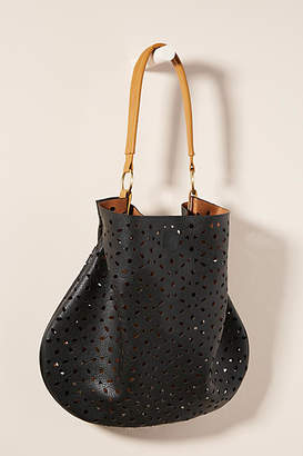 Anthropologie Jayne Perforated Slouchy Tote Bag