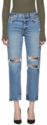 GRLFRND Blue Ripped Knee Helena Jeans