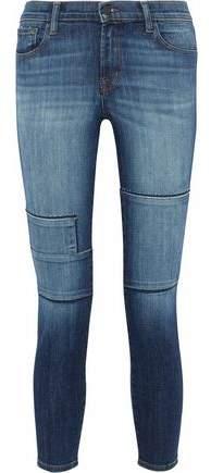 Jasper Patchwork Mid-Rise Skinny Jeans
