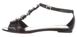 Loeffler Randall Leather Ruffle Sandals