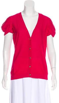 Magaschoni Silk-Blend Short Sleeve Cardigan w/ Tags
