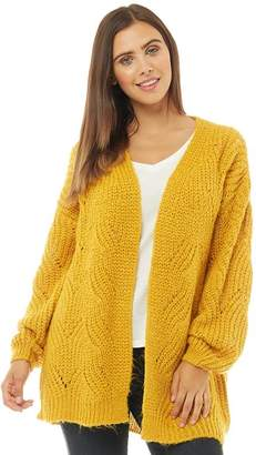 Only Womens Havana Long Cardigan Golden Yellow