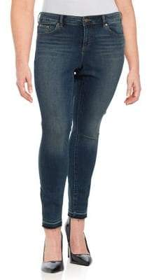 Vince Camuto Plus Frayed Cuff Jeans