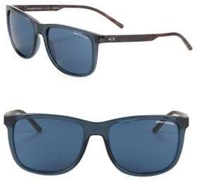 Armani Exchange Tinted 57MM Pillow Sunglasses