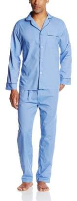 Hanes Men's Big-Tall Woven Pajama Set