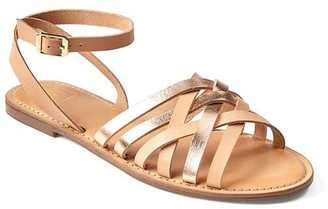 Leather lattice sandals $44.95 thestylecure.com