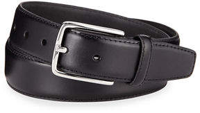 Neiman Marcus Smooth Leather Dress Belt