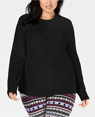 Cuddl Duds Plus Size Long-Sleeve Stretch Fleece Top