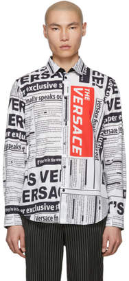 Versace Black and White Tabloid Shirt