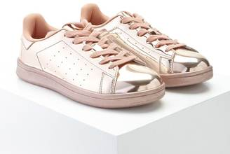 FOREVER 21+ Metallic Lace-Up Sneakers $27.90 thestylecure.com