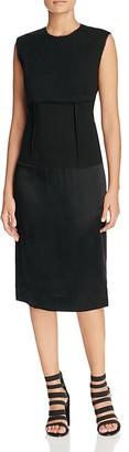 DKNY Mixed Media Sheath Dress - 100% Exclusive $298 thestylecure.com