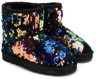 Colors of California Kids sequinned ankle boots