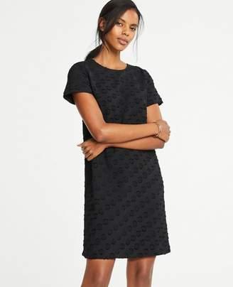 Ann Taylor Dot Jacquard T-Shirt Dress