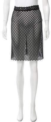 Leroy Veronique Guipure Lace Knee-Length Skirt