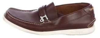 Salvatore Ferragamo Leather Boat Shoes