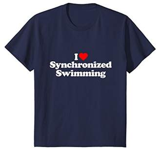 Synchronized Swimming Love Heart Funny T-Shirt Gift
