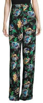 Diane von Furstenberg Benton Printed Wide-Leg Pants