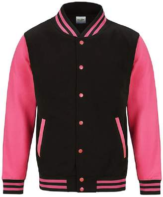 AWDis Just Hoods Womens/Ladies Electric Varsity Jacket (M)