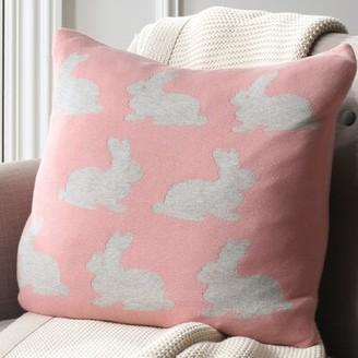 Three Posts Baby & Kids Tallapoosa Bunny Hop Knit Cotton Throw Pillow Baby & Kids
