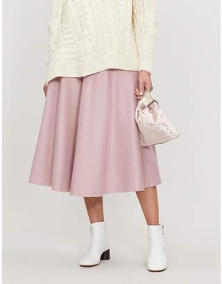 Max Mara Cabras wool midi skirt