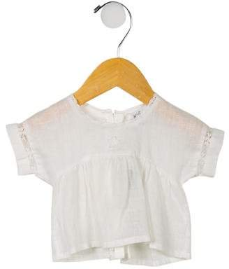 Tocoto Vintage Girls' Sheer Linen Blouse w/ Tags