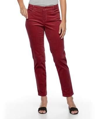 Croft & Barrow Women's Tummy-Slimming Straight-Leg Corduroy Pants