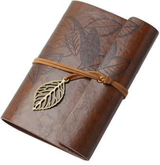 styleinside® Vintage Leaf Leather Cover Loose Leaf Blank Faux Leather Notebook Journal Diary Gift