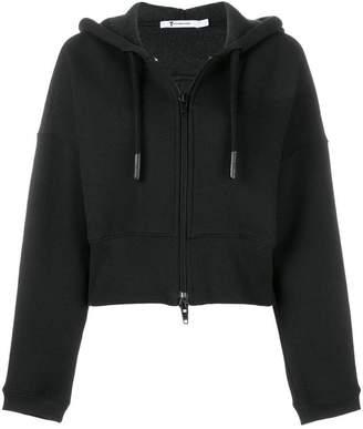 Alexander Wang short zipped hoodie