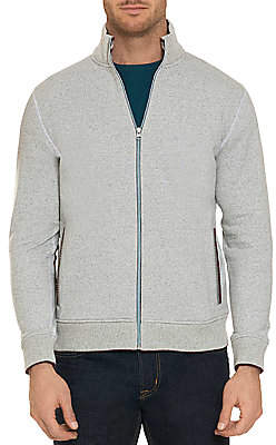 Robert Graham Men's Knowles Cotton Fleece Zip Cardigan
