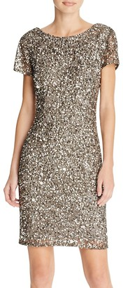 Adrianna Papell Sequined Sheath Dress $180 thestylecure.com