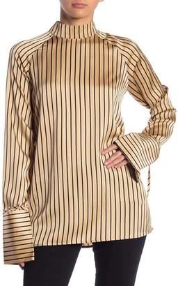 Love + Harmony Striped Mock Neck Top