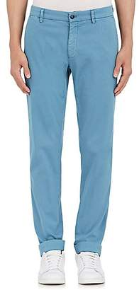 Barneys New York MEN'S CORDED STRETCH-COTTON SLIM CHINOS - BLUE SIZE 54