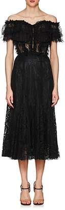 Dolce & Gabbana WOMEN'S LACE OFF-THE-SHOULDER COCKTAIL DRESS