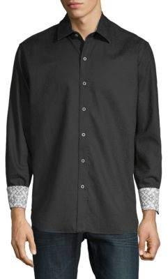 Robert Graham Windsor Cotton Button-Down Shirt
