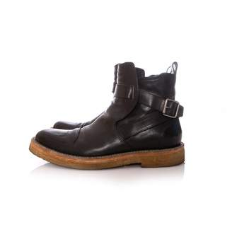 Dries Van Noten Black Leather Boots