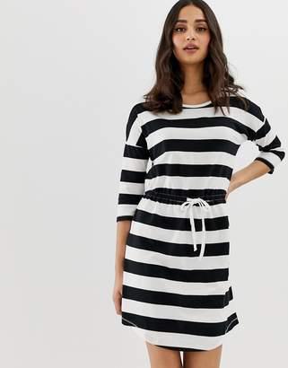 Only May stripe drawstring dress