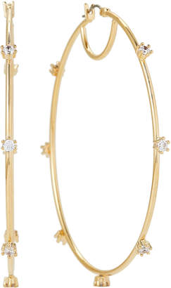 Vince Camuto Gold-Tone Crystal Oversized Hoop Earrings