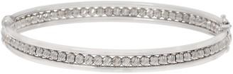Italian Silver Diamond Cut Bead Bangle
