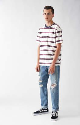 Pacsun Slim Vertical Stretch Destroy Indigo Jeans
