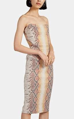 MANNING CARTELL Women's Reptillia Cutout-Back Python-Pattern Jacquard Dress