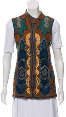 Dries Van Noten Intarsia Knit Vest