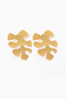 Maria Camila Mesa Palm Cut-Out Earrings