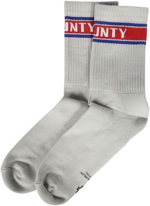 Marcelo Burlon County of Milan Logo Crew Stripe Socks