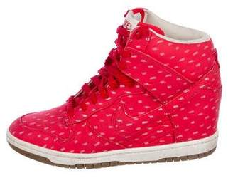 Nike Rounded-Toe High-Top Sneakers