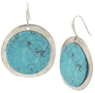 Robert Lee Morris Soho Turquoise Disc Drop Earrings