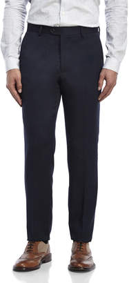 Tailorbyrd Navy Cavalry Flat Front Twill Wool Pants