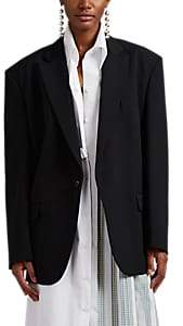Maison Margiela Women's Piqué Drawstring One-Button Blazer - Black